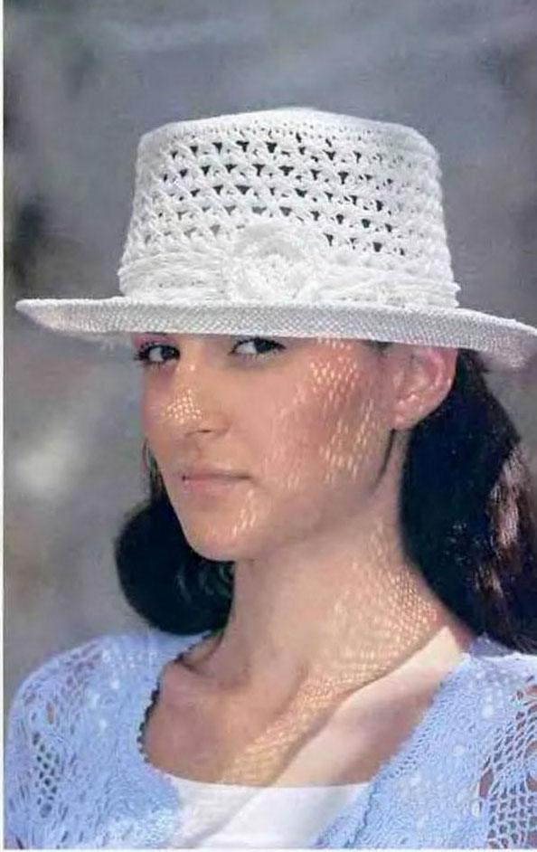 Вязание крючком шляпка+схема