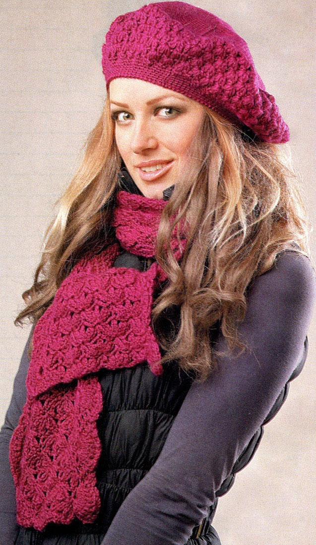 Вязание шапок берет и шарф