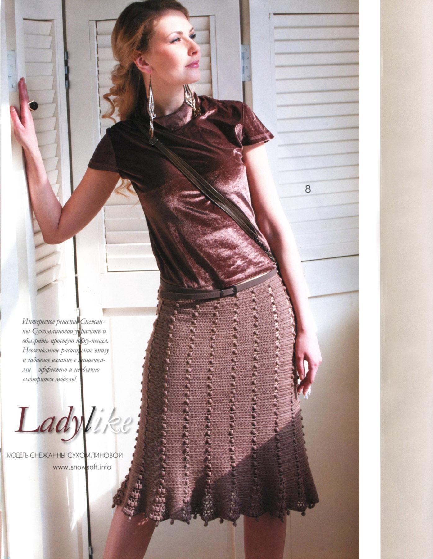 Вязание крючком юбки фото 5