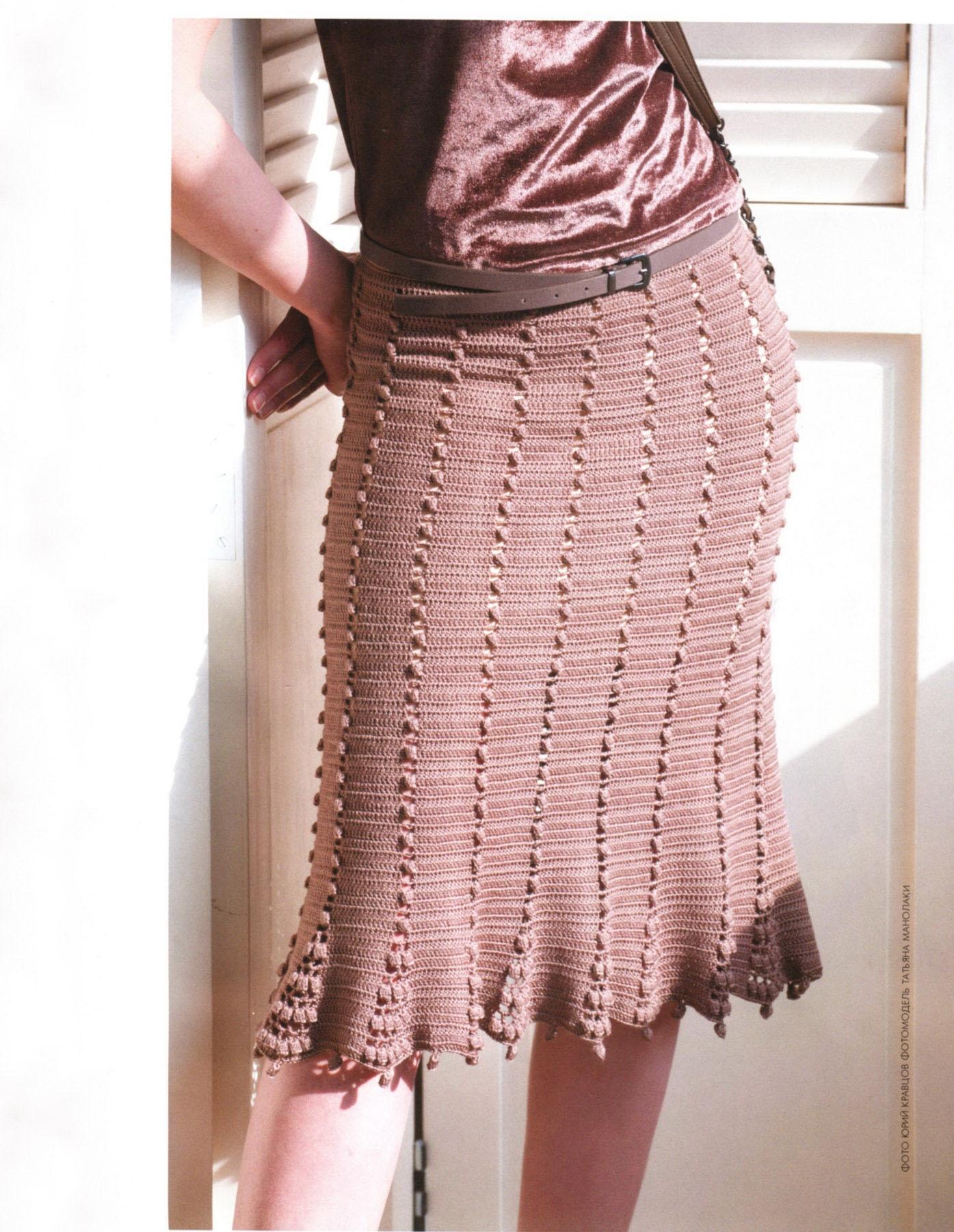 Картинки вязанные юбки