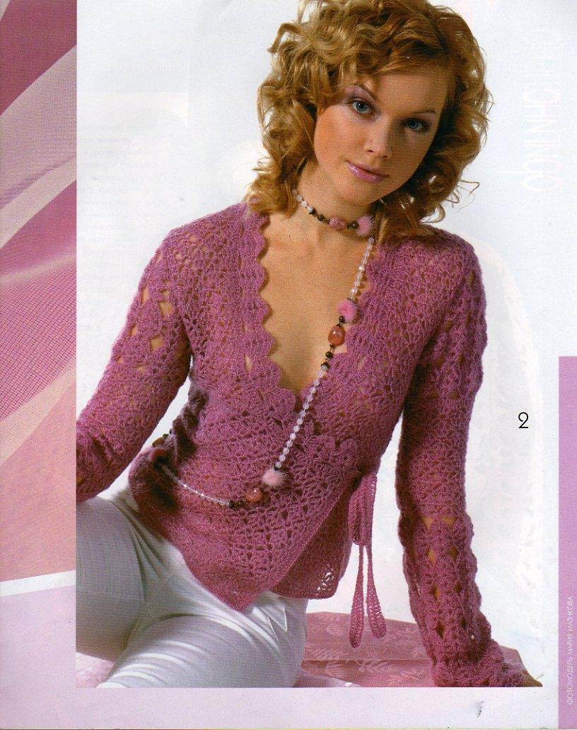 Модели вязания летние кофты